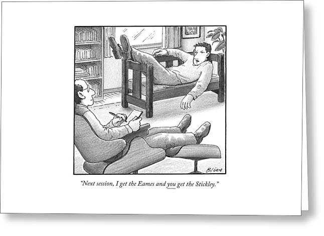 In A Therapist's Office Greeting Card