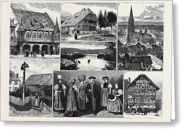In And About The Black Forest 1. The Merchants Hall Greeting Card by English School