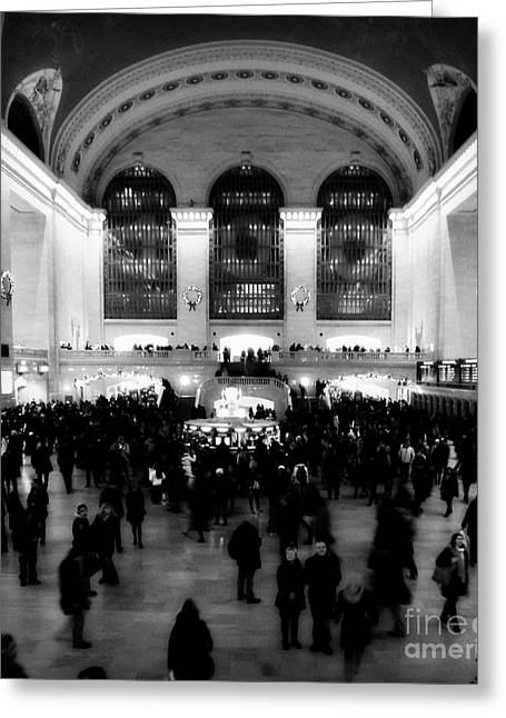 In Awe At Grand Central Greeting Card by James Aiken