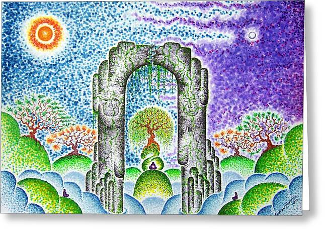 In Awe Of Silent Spaces II  Greeting Card by Andrew Zeutzius