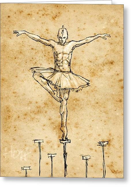 In Balance Greeting Card by H James Hoff