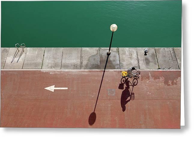 In Bici Greeting Card