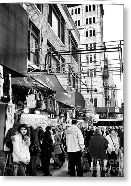 In Chinatown Greeting Card by John Rizzuto
