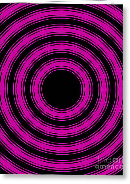 Greeting Card featuring the painting In Circles-pink Version by Roz Abellera Art