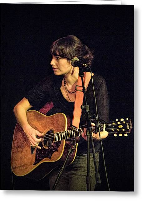 In Concert With Folk Singer Pieta Brown Greeting Card by Randall Nyhof