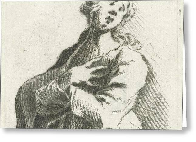 In Despair, Caspar Jacobsz Greeting Card
