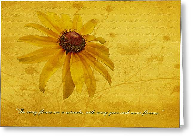 In Every Flower See A Miracle Greeting Card by Mother Nature