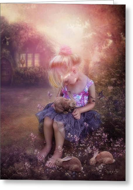 In Fairy Tales Greeting Card by Cindy Grundsten