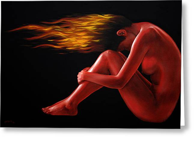 In Flame Greeting Card