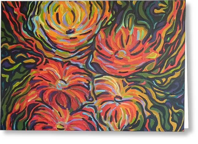 In Full Bloom Greeting Card by Zofia  Kijak