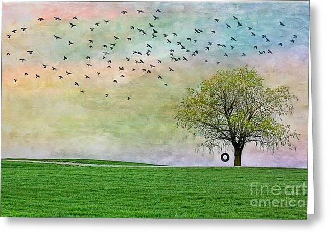 In Green Pastures Greeting Card
