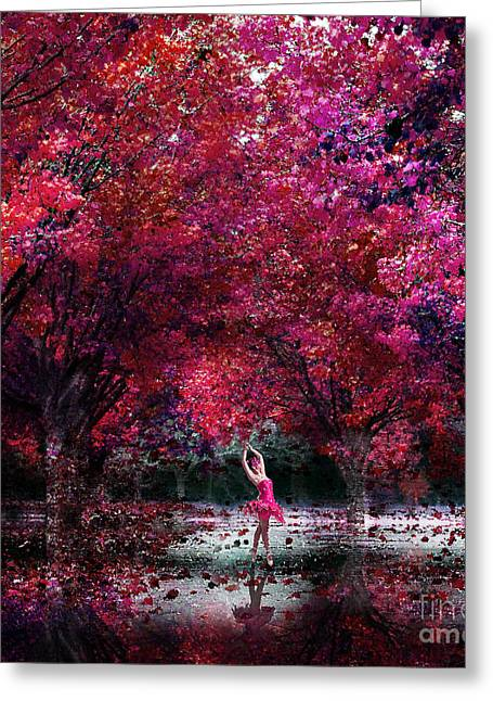 In Her Dreamworld Greeting Card by Jacky Gerritsen