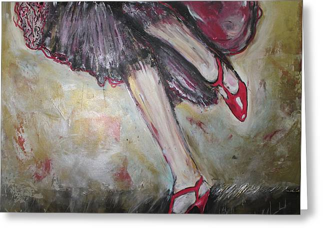 In Her Shoes Greeting Card by Lucy Matta - Lulu