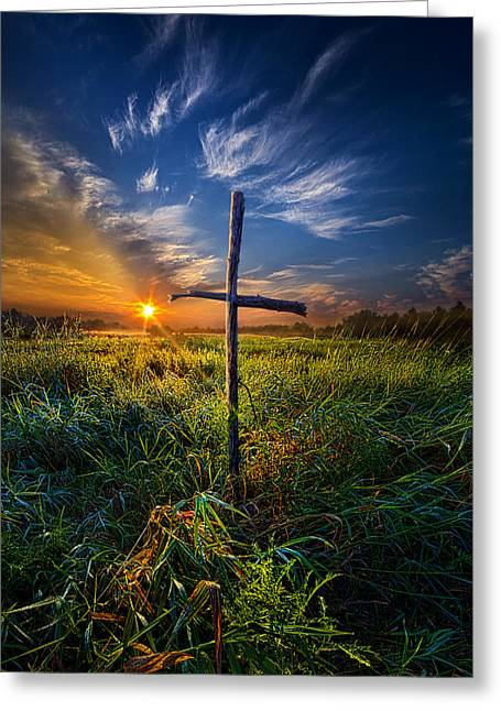 In His Glory Greeting Card by Phil Koch
