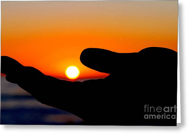 In His Hands By Diana Sainz Greeting Card