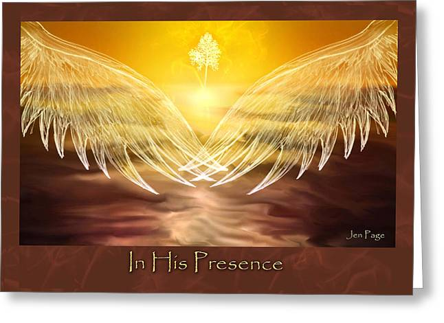 In His Presence Greeting Card by Jennifer Page