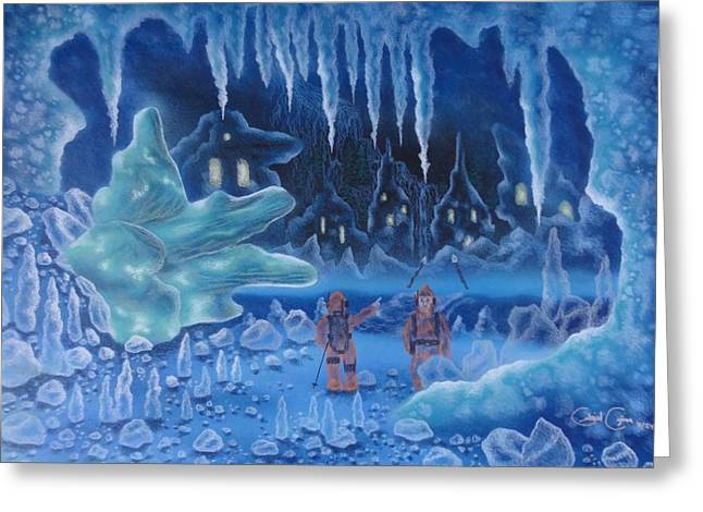In Icy Depths Greeting Card