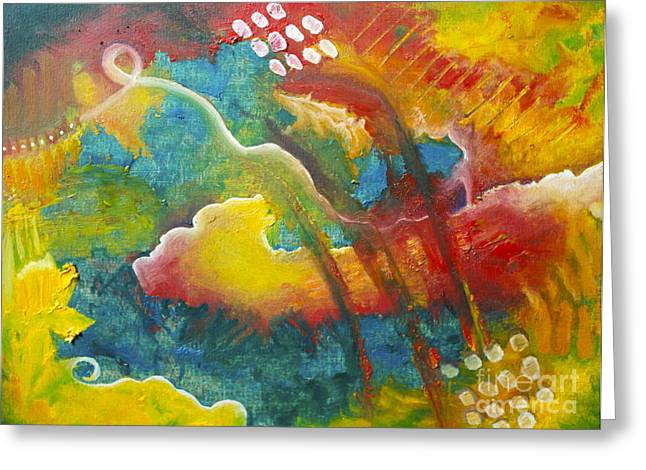 In Limbo   Between Heaven And Hell Greeting Card by Terri Thompson
