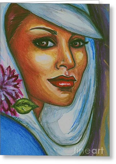 Greeting Card featuring the mixed media In Living Color by Alga Washington