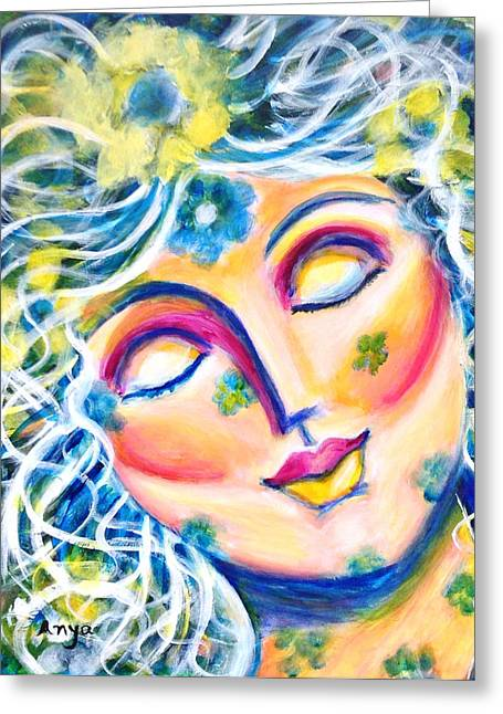 Greeting Card featuring the painting In Love by Anya Heller