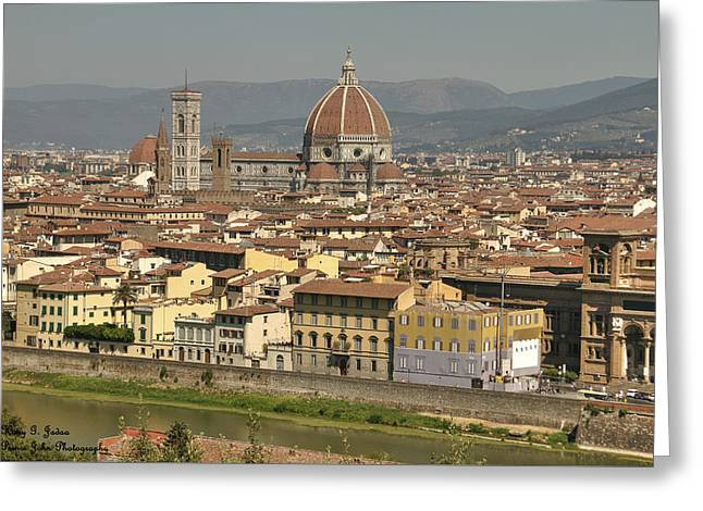 In Love With Firenze - 2 Greeting Card