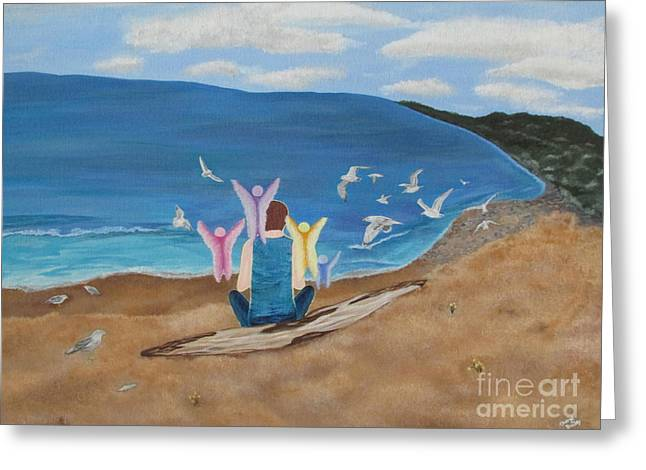 Greeting Card featuring the painting In Meditation by Cheryl Bailey