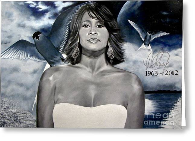 In Memory Of...whitney Houston Greeting Card