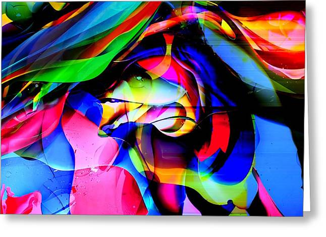 In My Dreams 2 Greeting Card by Barbs Popart