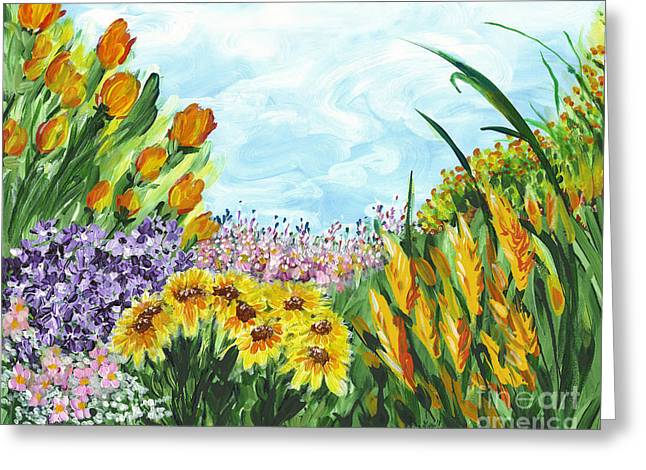 In My Garden Greeting Card by Holly Carmichael