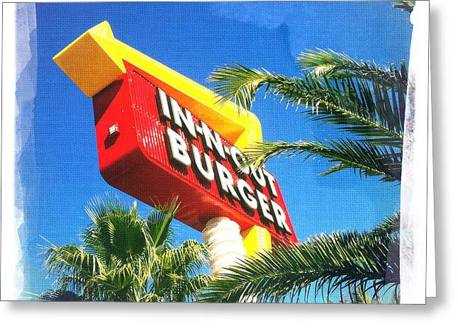 In-n-out Burger Greeting Card by Nina Prommer