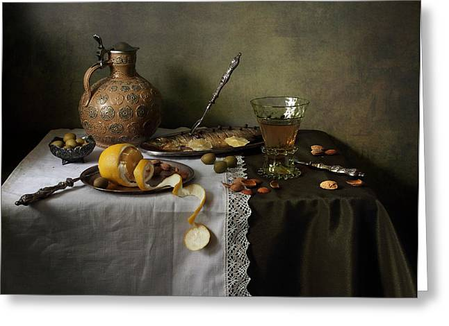 In Olive Tones  Greeting Card by Helen Tatulyan