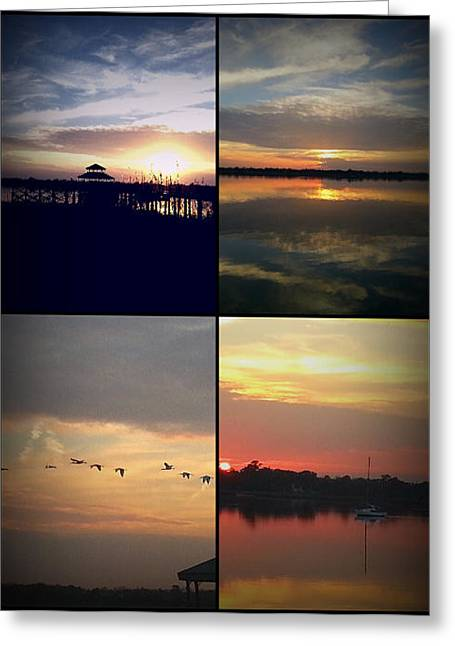Greeting Card featuring the photograph In One Sunset One Location by Joetta Beauford