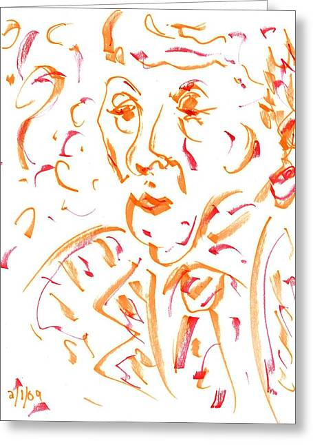 In Orange Greeting Card
