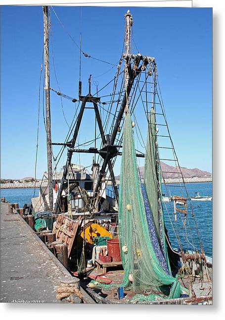 Greeting Card featuring the photograph In Port by Dick Botkin