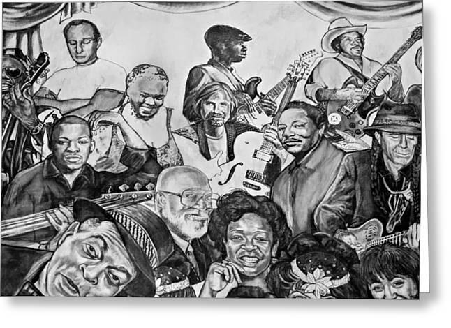 In Praise Of Jazz V Greeting Card by Steve Harrington
