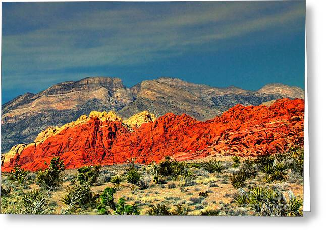 In Red Mountain 1 Greeting Card