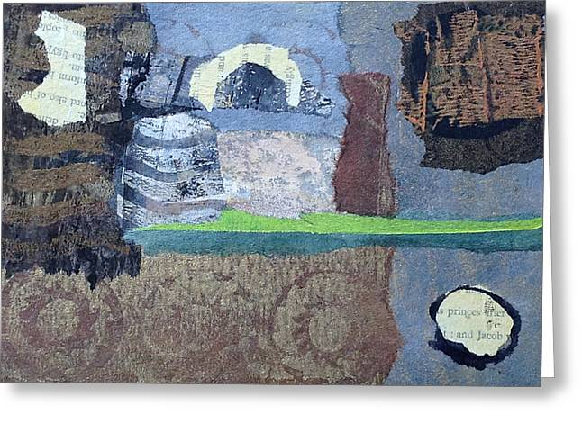 Greeting Card featuring the mixed media In Ruins by Catherine Redmayne