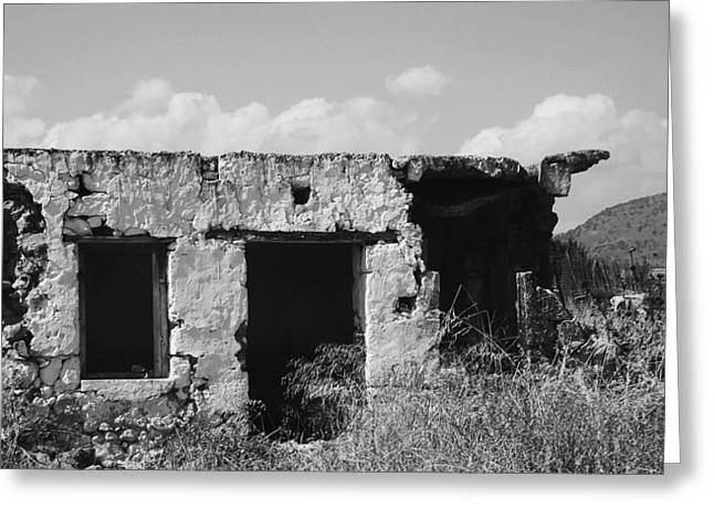 Greeting Card featuring the photograph In Ruins by Diane Miller