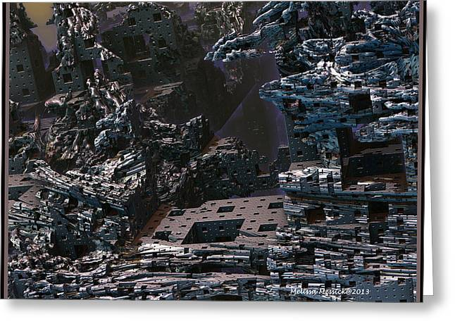 Greeting Card featuring the digital art In Ruins by Melissa Messick