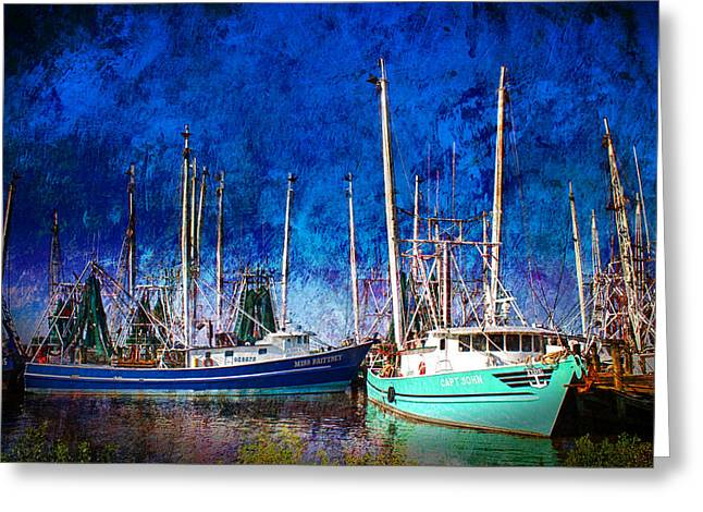 In Safe Harbor Greeting Card by Barry Jones