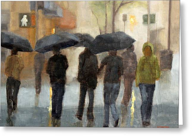 In Spite Of Rain Greeting Card