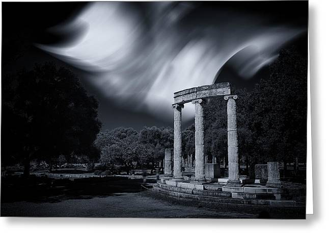 Greeting Card featuring the photograph In The Altis Of Olympia by Micah Goff
