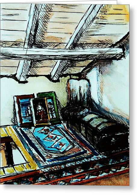 In The Attic Greeting Card by Anne Parker