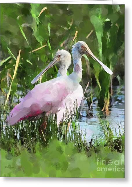 Greeting Card featuring the photograph In The Bayou #2 by Betty LaRue