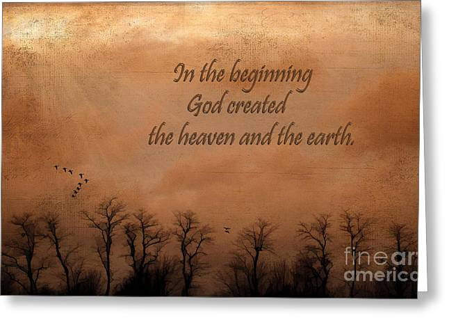In The Beginning Greeting Card by Darren Fisher