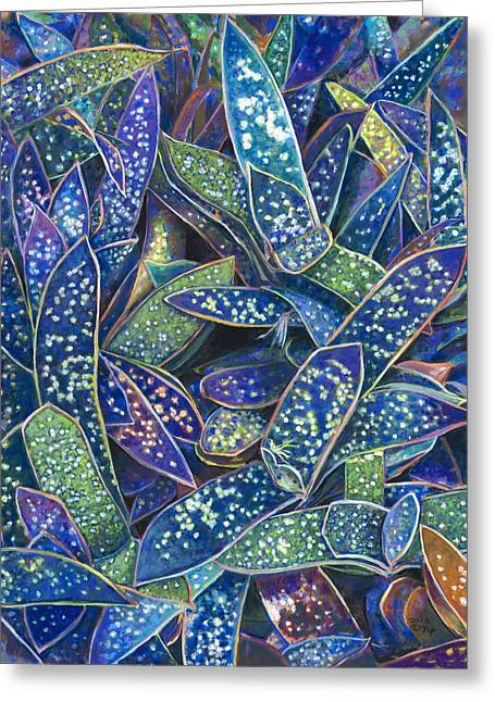 In The Conservatory - 6th Center - Indigo Greeting Card