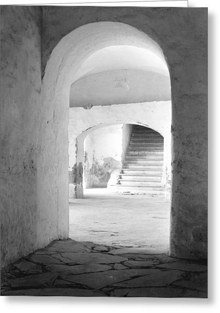 In The Convent Of Tepotzotlan, Mexico Greeting Card by Tina Modotti