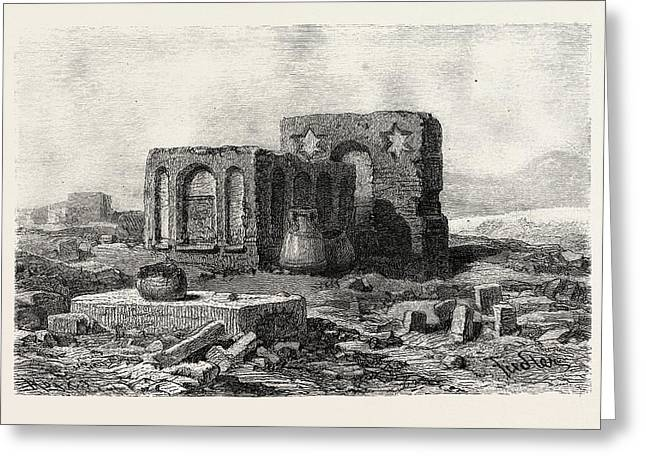 In The Desert Between Assoitan And Philae Greeting Card by Litz Collection