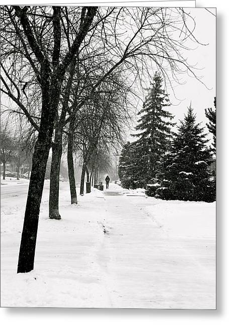 In The Distance Greeting Card by Eric Dewar