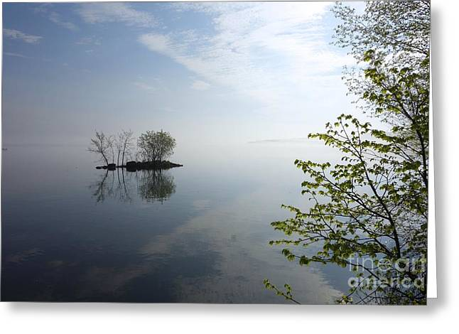 Greeting Card featuring the photograph In The Distance On Mille Lacs Lake In Garrison Minnesota by Jacqueline Athmann